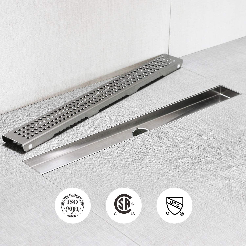 bathroom linear drain stainless steel