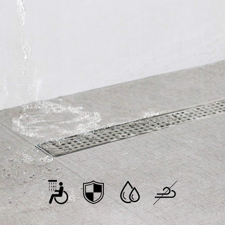 bathroom linear drainage stainless steel