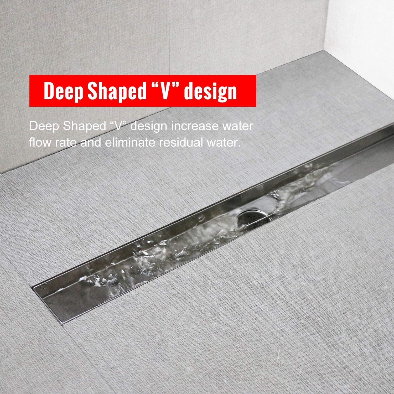 shower linear drain stainless steel